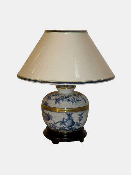 Lampe de chevet bleu blanc aux merveilles d 39 asie - Lampe de chevet bleu ...
